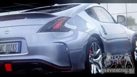 Nissan 370Z Nismo 2016 EU Plate для GTA San Andreas вид изнутри