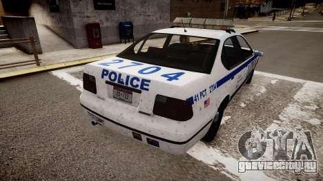 Police Patrol V2.3 для GTA 4 вид сзади слева