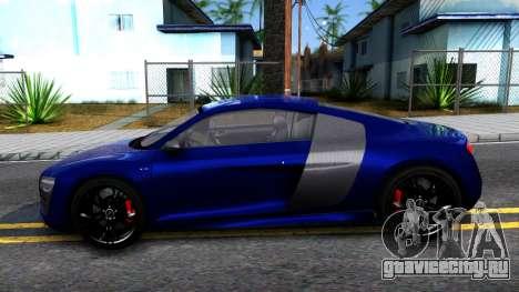 Audi R8 5.2 FSI quattro 2010 для GTA San Andreas вид слева