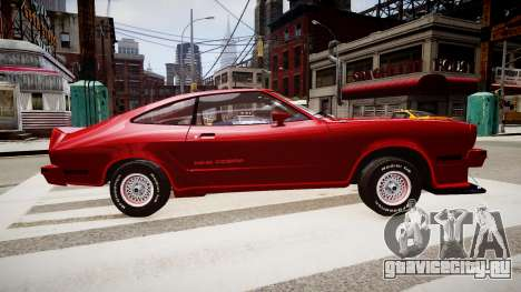 FORD Mustang King Cobra 1978 для GTA 4 вид слева