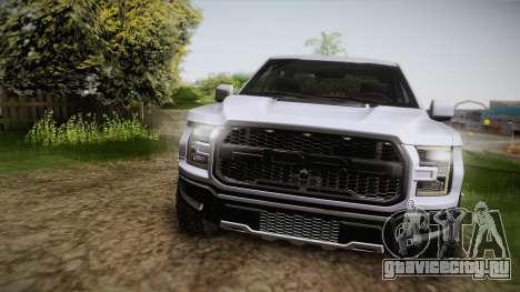 Ford F-150 Raptor 2017 для GTA San Andreas вид справа