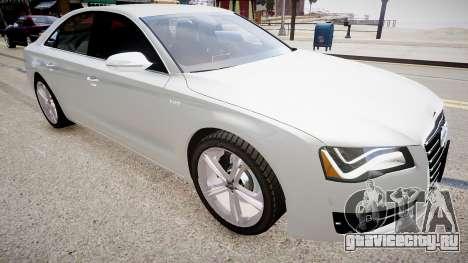 Audi S8 2013 для GTA 4 вид справа