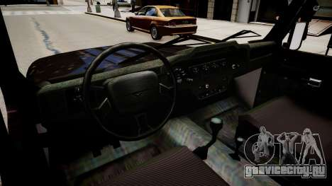 UAZ Hunter Beta для GTA 4 вид изнутри
