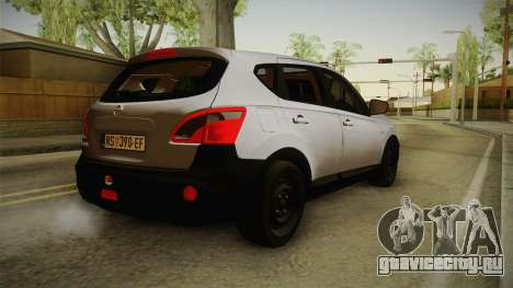 Nissan Qashqai для GTA San Andreas вид слева