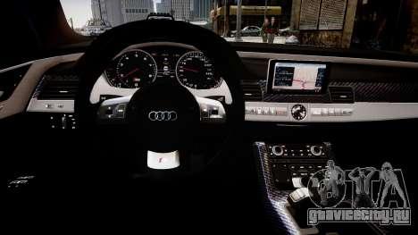 Audi S8 2013 для GTA 4 вид изнутри