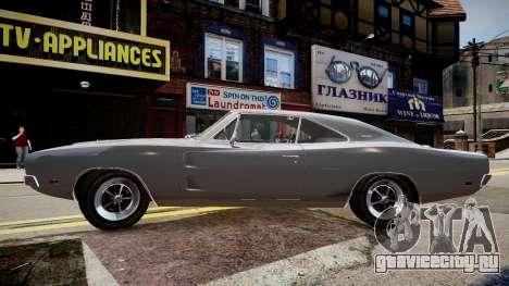 Dodge Charger RT 1969 для GTA 4 вид слева