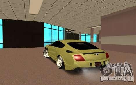 Bentley Continental для GTA San Andreas вид сзади слева