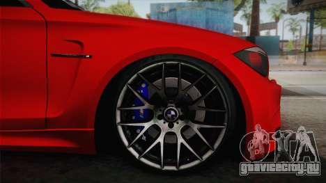 BMW M1 E82 для GTA San Andreas вид сзади