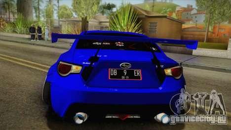 Subaru BRZ 2013 Rocket Bunny Slammed для GTA San Andreas вид сбоку