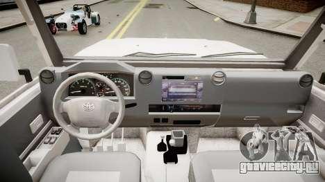 Toyota Land Cruiser Pick-Up 79 2012 v1.0 для GTA 4 вид изнутри