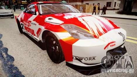 Nissan 350Z JGTC Motul Pitwork для GTA 4 вид справа