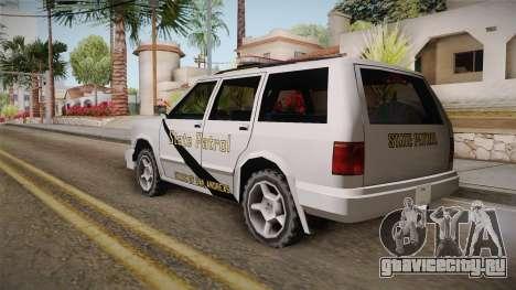 Dundreary Landstalker 1993 SA State Patrol для GTA San Andreas вид слева