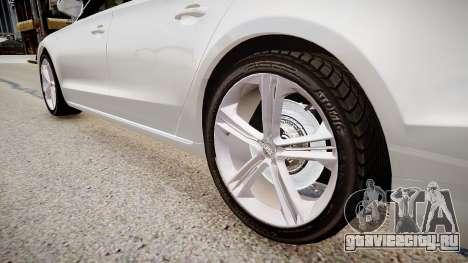 Audi S8 2013 для GTA 4 вид сзади