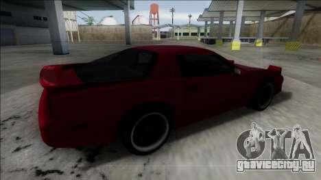 Pontiac Trans AM для GTA San Andreas вид слева