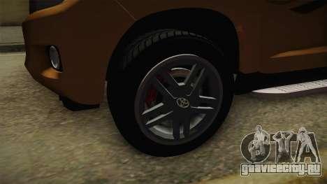 Toyota Land Cruiser Prado 2012 для GTA San Andreas вид сзади