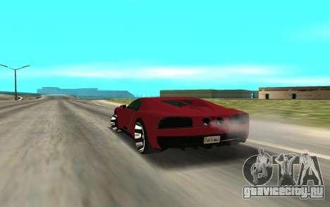 TRUFFADE NERO для GTA San Andreas вид сзади слева
