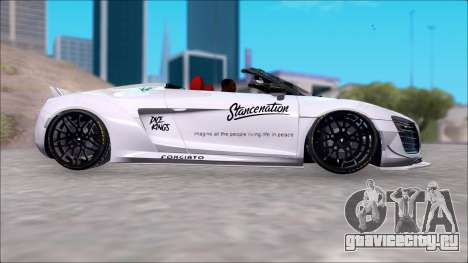 Audi R8 Spyder 5.2 V10 Plus LB Walk DiCe для GTA San Andreas