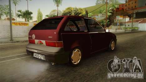 Suzuki Swift 1.3 для GTA San Andreas вид справа