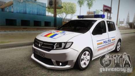 Dacia Sandero 2016 Romanian Police для GTA San Andreas