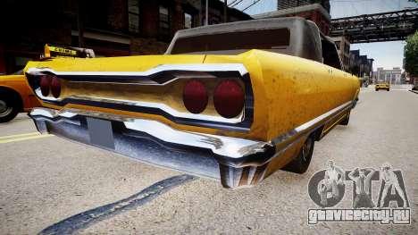 GTA SA Savanna для GTA 4 вид сзади слева