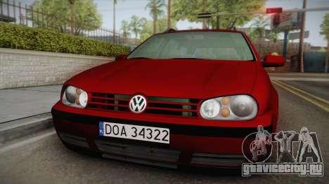 Volkswagen Golf 4 Variant 1.8 T для GTA San Andreas вид сзади слева