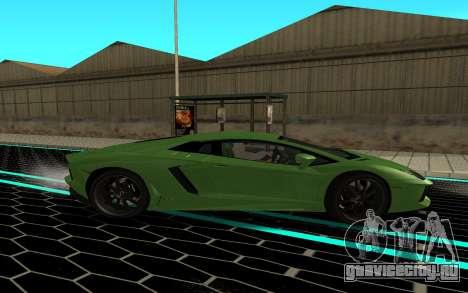Lamborgini Aventador для GTA San Andreas вид слева