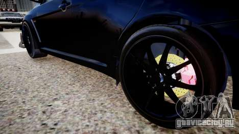 Mitsubishi EVO IX 2009 для GTA 4 вид сзади