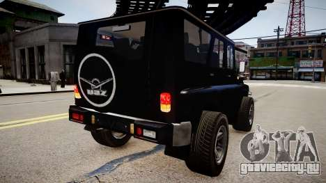 UAZ Hunter Beta для GTA 4 вид слева