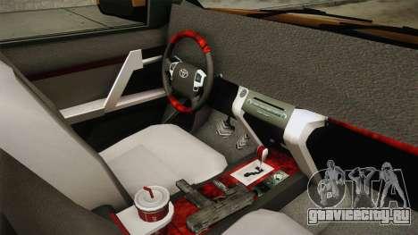 Toyota Land Cruiser Prado 2012 для GTA San Andreas вид изнутри