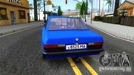 BMW E28 525e для GTA San Andreas вид сзади слева