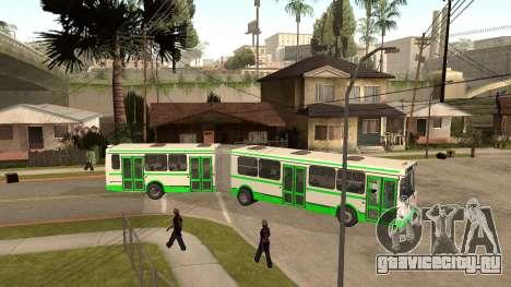 Прицеп к ЛиАЗ-6212 для GTA San Andreas вид слева