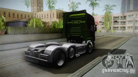 Scania R620 Malaysia Airlines для GTA San Andreas вид сзади слева