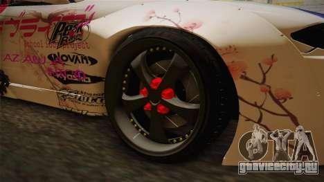 Nissan Silvia S15 Rocket Bunny Itasha для GTA San Andreas вид сзади