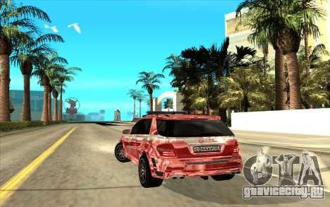 Mercedes-AMG для GTA San Andreas вид сзади слева