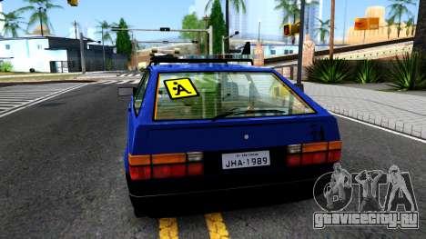 Volkswagen Gol GTI Troll Face для GTA San Andreas вид сзади слева
