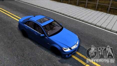 Mercedes-Benz C63 AMG для GTA San Andreas вид справа