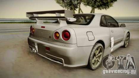 Nissan Skyline Tunable Pro Street для GTA San Andreas салон