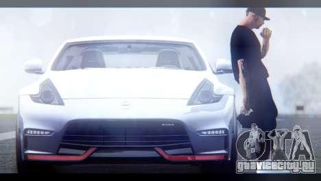 Nissan 370Z Nismo 2016 EU Plate для GTA San Andreas вид сзади слева