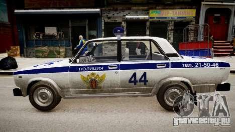 ВАЗ 2105 Полиция для GTA 4 вид слева