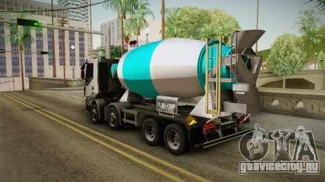 Iveco Trakker Hi-Land Cement Mixer 8x4 v3.0 для GTA San Andreas вид слева