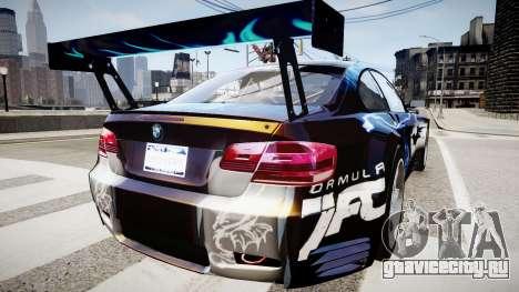 BMW M3 GT2 Ultimate Drift для GTA 4 вид слева