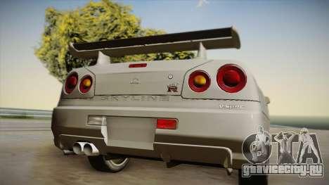 Nissan Skyline Tunable Pro Street для GTA San Andreas вид сзади