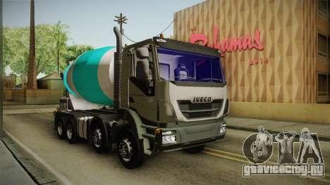Iveco Trakker Hi-Land Cement Mixer 8x4 v3.0 для GTA San Andreas вид сзади