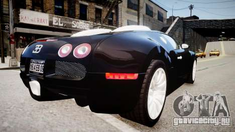 Bugatti Veyron 16.4 2009 v.2 для GTA 4 вид справа