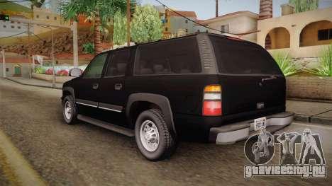 Chevrolet Suburban Z71 FBI для GTA San Andreas вид слева