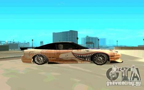 Nissan SX 180 для GTA San Andreas вид слева