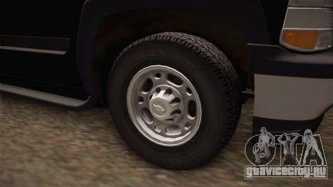 Chevrolet Suburban Z71 FBI для GTA San Andreas вид сзади