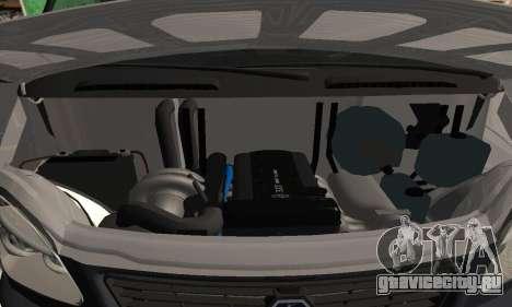 Газель Турбо дизель для GTA San Andreas вид сзади