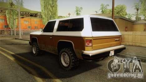Chevrolet Blazer K5 Rancher Style для GTA San Andreas вид сзади слева