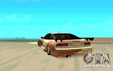 Nissan SX 180 для GTA San Andreas вид сзади слева